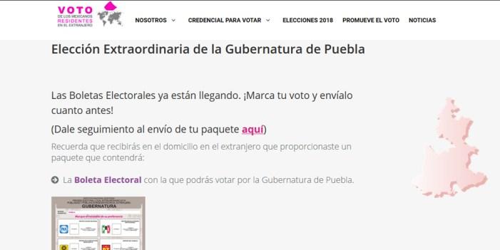 Envía INE paquetes electorales a poblanos para voto extranjero