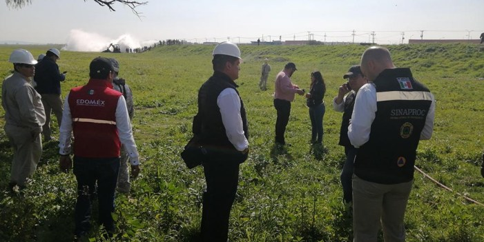Reportan fuga en ducto de gas LP en municipio de Nextlalpan