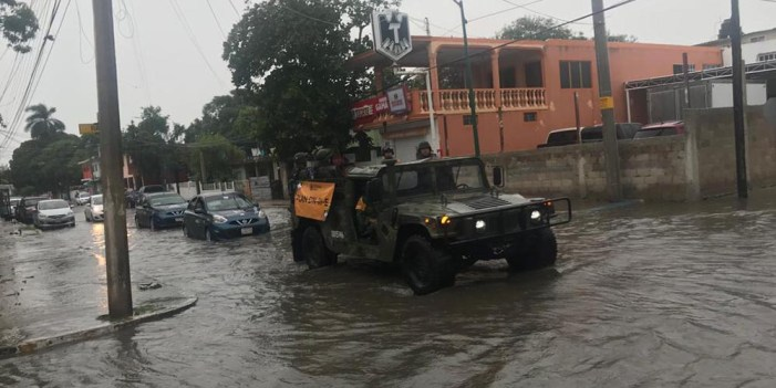 Aplican Plan DN-III-E por lluvias en Aldama, Tamaulipas