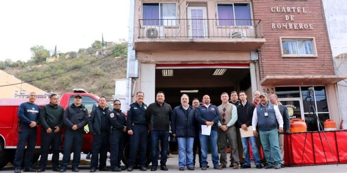 Entregan equipo a Bomberos de Nogales