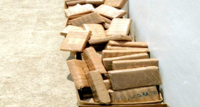 Aduanas decomisa 627 kilos de cocaína