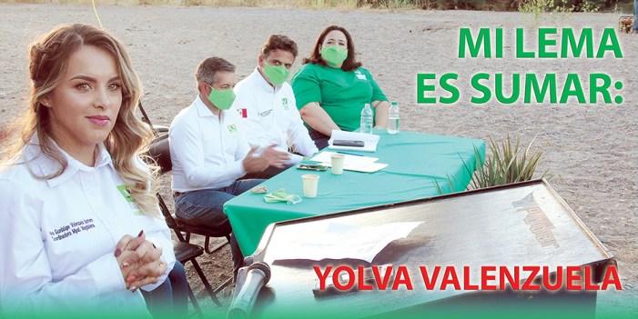 Mi lema es sumar: Yolva Valenzuela