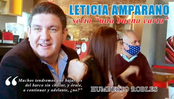 """Leticia Amparano sería """"una buena carta"""""""