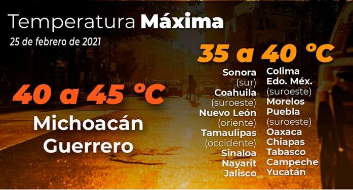 México espera altas temperaturas