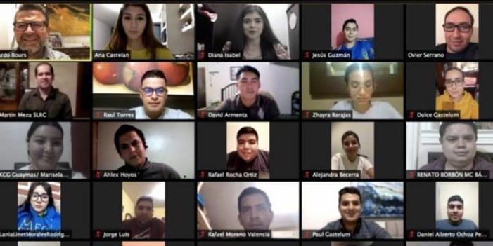 Ricardo Bours platica con jóvenes sonorenses vía Zoom