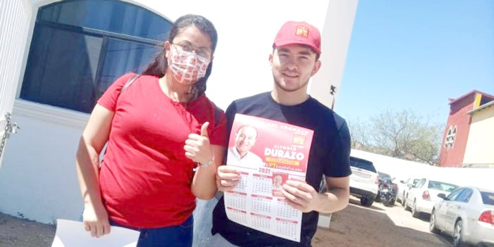 Brigadistas del PT promueven voto para Durazo