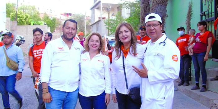 María Elena Moreno va con todo por la Diputación Federal