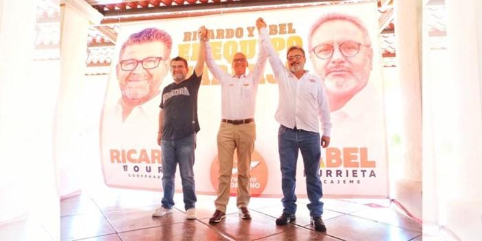 Dante Delgado y Ricardo Bours respaldan en Cajeme a Abel Murrieta