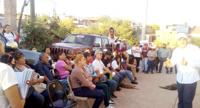 Vecinos de Los Encinos apoyan a Gim Nogales