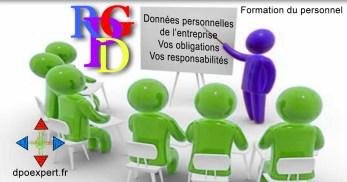 RGPD formation des employés à la gestion quotidienne des données à caractère personnel de l'entreprise