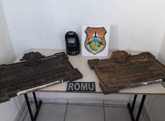 Guarda Municipal localiza placas de bronze furtadas de cemitério em Ponta Grossa