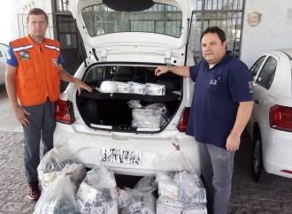 Coronavírus: Defesa Civil recebe doação de máscaras e luvas apreendidas