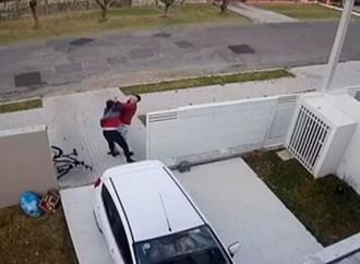 Vídeo: Após assalto, morador reage e dá soco em homem que tentou furtar bicicleta