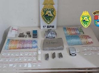 Polícia Militar fecha ponto de distribuição de drogas no bairro Contorno