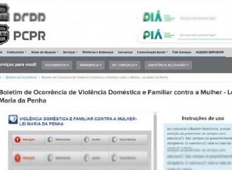 Agora vítimas de violência doméstica de todo o Paraná podem fazer denúncias através da internet