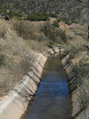 photo of an acequia