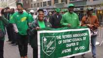Retired AFSCME Members at May Day rally 2015