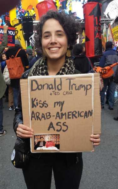 Donald Trump + Ted Cruz kiss my Arab-American ass