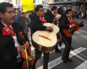 They played La Cucaracha for Trump