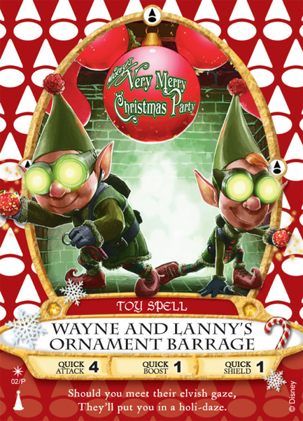 he Wayne and Lanny's Ornament Barrage card