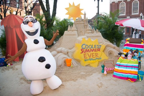 """Sand Castle in the Snow Announces 24-Hour Event to Kick Off """"Coolest Summer Ever"""" at Walt Disney World Resort (c)Disney"""