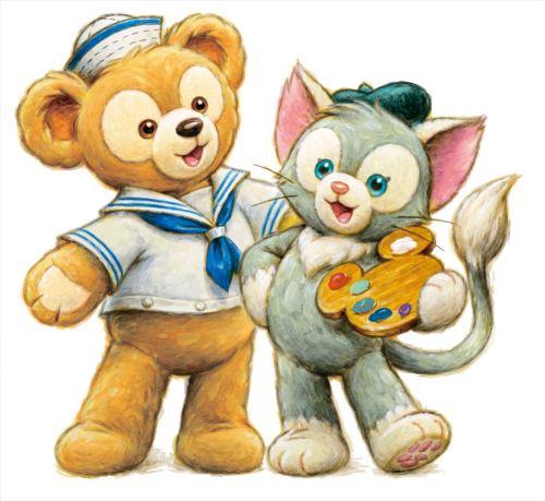 ダッフィーとジェラトーニ (c)Disney