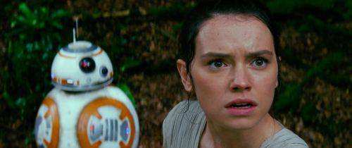 Star Wars: The Force AwakensL to R: BB-8 and Rey (Daisy Ridley)Ph: Film Frame© 2014 Lucasfilm Ltd. & TM. All Right Reserved.