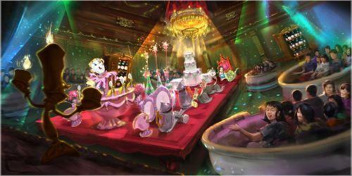 大型アトラクションの体験シーン  (c)Disney