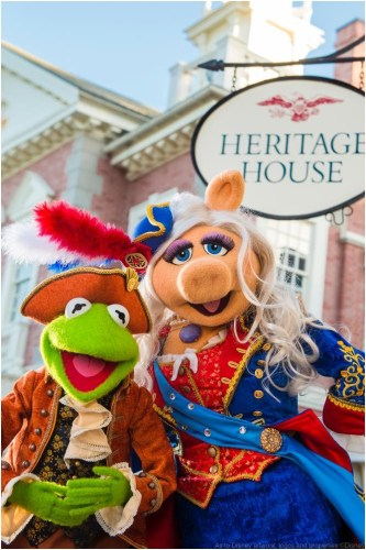 "Beginning in October 2016, the Muppets will star in an all-new live show at Magic Kingdom Park, called ""The Muppets Present… Great Moments in American History.""  (c)Disney"