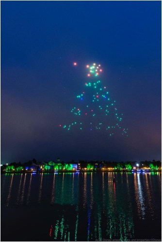 This holiday season, guests at Disney Springs-the shopping, dining and entertainment district of Walt Disney World Resort-will get a chance to see Disney and Intel exploring remarkable new technology as hundreds of lighted show drones take to the nighttime sky in