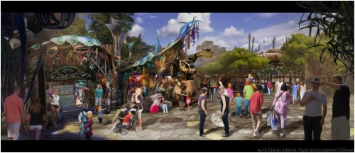 Opening in summer 2017 at Disney's Animal Kingdom, Pandora-The World of Avatar will bring a variety of new experiences to the park, including a family-friendly attraction called Na'vi River Journey and new food & beverage and merchandise locations. Pongu Pongu (pictured here) will be a special drink location with a design that is as eclectic as its Expat owner. Disney's Animal Kingdom is one of four theme parks at Walt Disney World Resort in Lake Buena Vista, Fla. (Disney Parks)