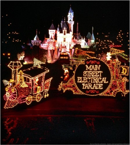 MAIN STREET ELECTRICAL PARADE RETURNS TO DISNEYLAND RESORT ñ Brought to light in the early 1970s, the Main Street Electrical Parade helped establish a Disney Parks reputation for innovative, trend-setting live entertainment. As floats illuminate the parade route, this vibrant spectacular brings a variety of Disney animated feature films to life with approximately half a million twinkling lights. The parade's iconic musical theme, the electrically synthesized