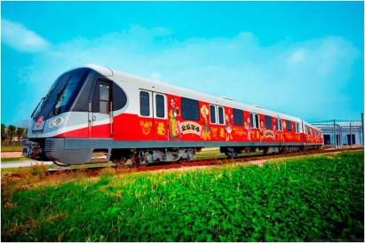 Chinese New Year Celebration Themed Metro Trains Rendering 3 (c)Disney