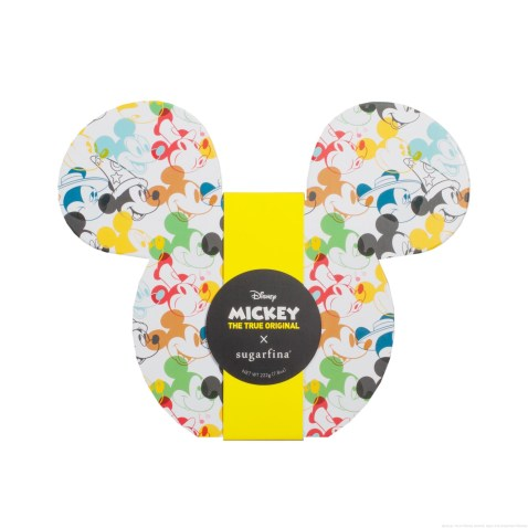 Licensee: Sugarfina MSRP: $26.00 Description: Cheers to the ears - it's a celebration, and we're bringing the (candy) party. A perfect gift for any Disney fan, our collectible Mickey Ears 2pc Candy Bento Box® is filled with two limited-edition candies created for Mickey's 90th anniversary, Mickey Ears and Mickey Gloves. The sweet treats are packaged inside a gift box featuring authentic illustrations by Disney character artists of Mickey's iconic looks through the years. Enjoy the candies now, and use the keepsake box for holding your favorite Disney mementos for years to come. Availability: 8/22 Retailers: Sugarfina boutiques and at http://www.Sugarfina.com
