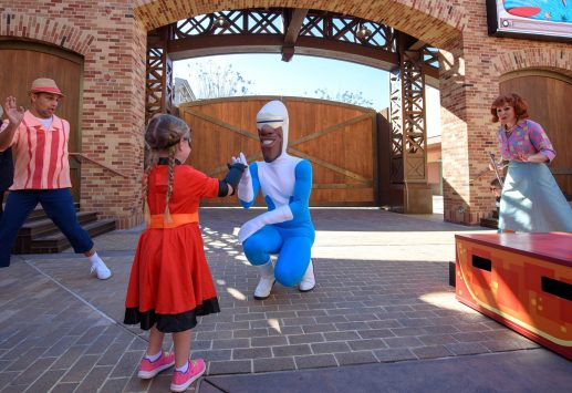 Guests can dance with Mr. Incredible, Mrs. Incredible and Frozone as part of An Incredible Celebration in Pixar Place at Disney's Hollywood Studios at Walt Disney World Resort in Lake Buena Vista, Fla.