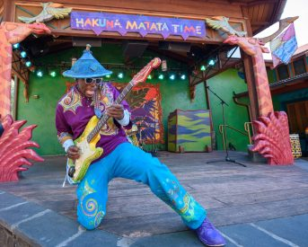 """Live musicians help guests let their inner animal loose on the dance floor during """"Hakuna Matata Time Dance Party"""" at Disney's Animal Kingdom at Walt Disney World Resort in Lake Buena Vista, Fla."""