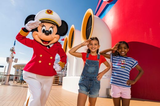 Captain Minnie Mouse is delighting children aboard all Disney Cruise Line ships, spreading the message of exploring new horizons as part of a collection of new initiatives aiming to inspire the next generation of female leaders in the maritime industry. The debut of Captain Minnie Mouse, plus new youth programs and the funding of scholarships, are designed to empower girls and young women to pursue careers in the cruise industry and chart a course for success. (Matt Stroshane, photographer)