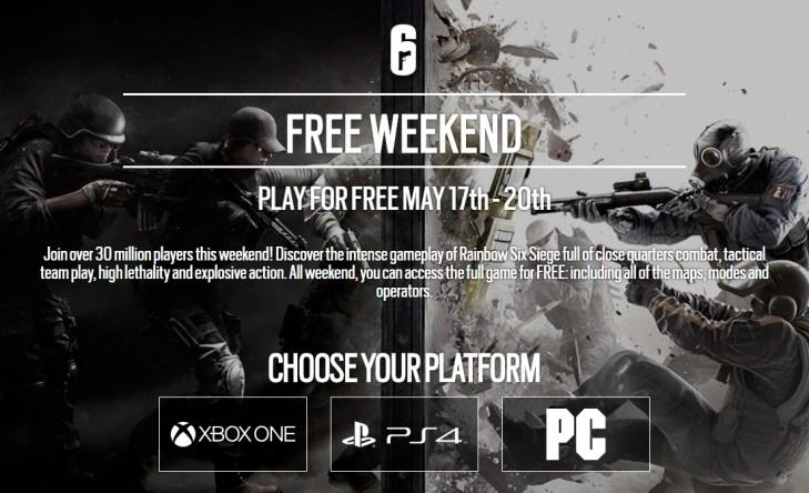 『レインボーシックス シージ』週末フリープレイ実施。5月17日よりPC/PS4/Xbox Oneで無料体験が可能