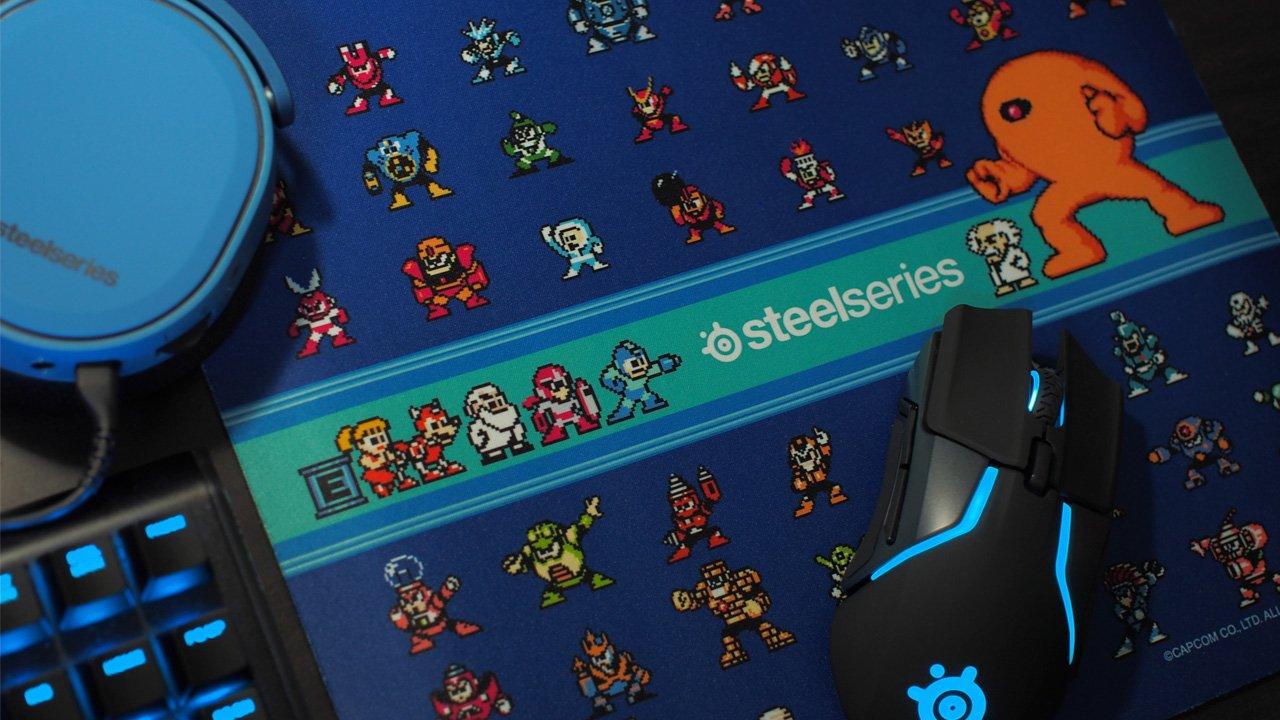 SteelSeries、「ロックマン」をフィーチャーしたゲーミングマウスパッド「QcK Rockman Edition」発表。2月28日(木)より数量限定で販売