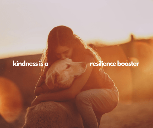 photo of woman hugging dog in warm earthy colors