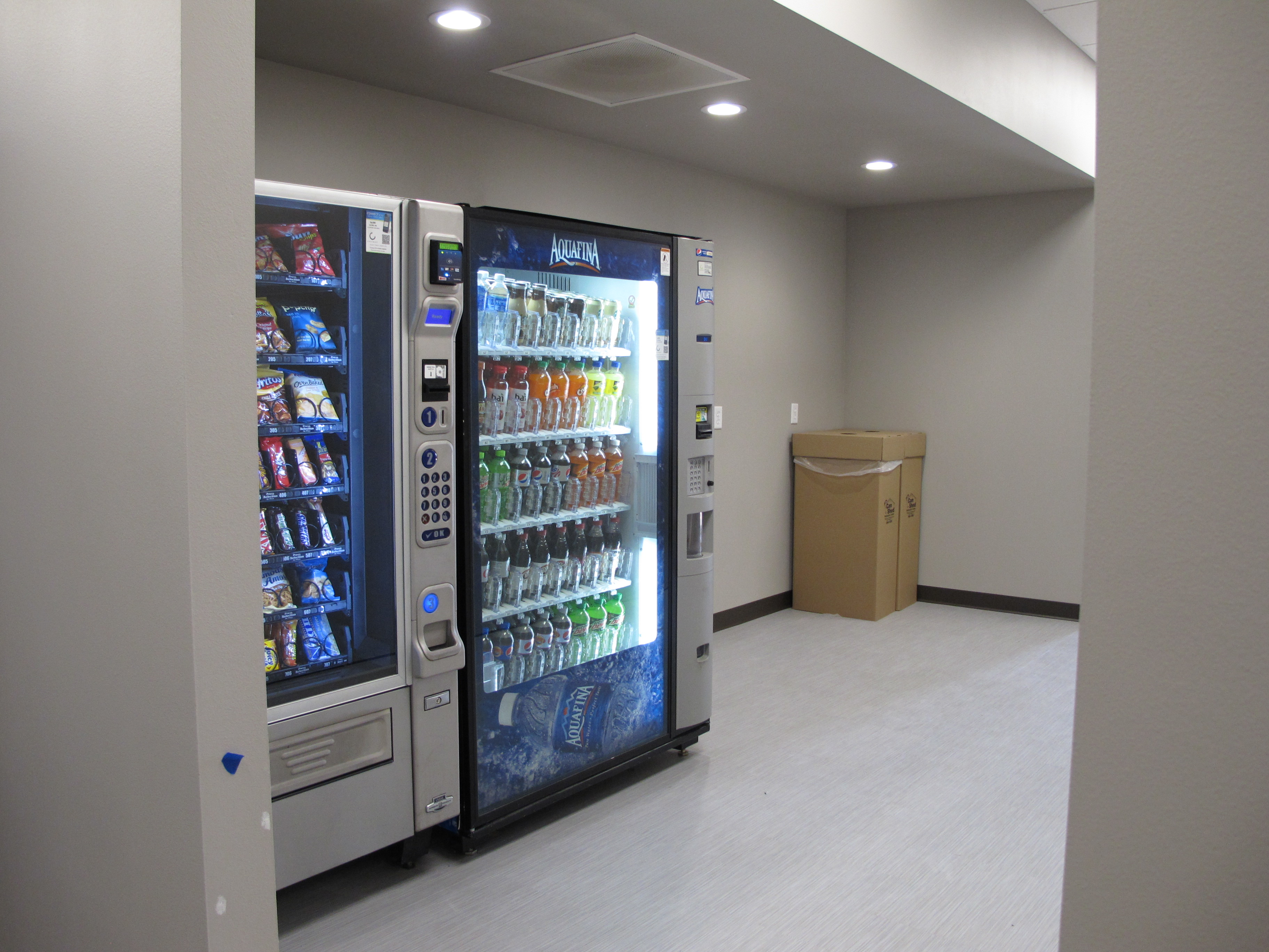 The new vending machines are pretty popular.