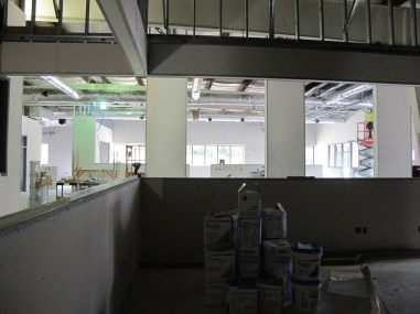 With the open floor plan we will be able to easily see each other.