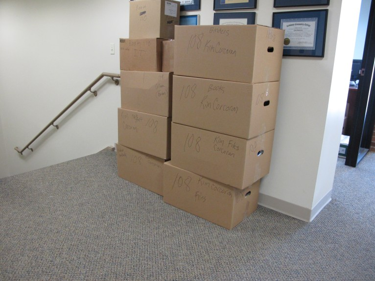 We've started packing in our current location.