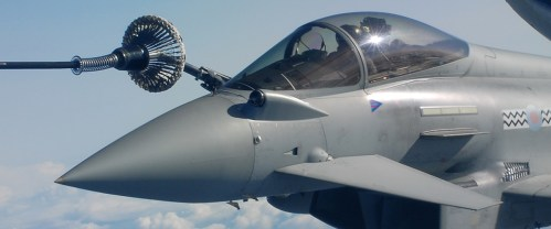Eurofighter in flight refuelling top image