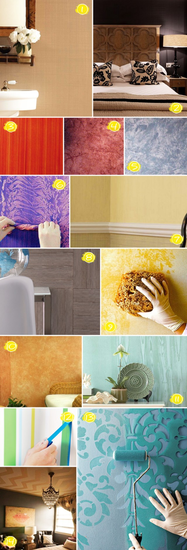 Textured Wall Painting Ideas: From Faux Wood to Linen Effects | Home ...