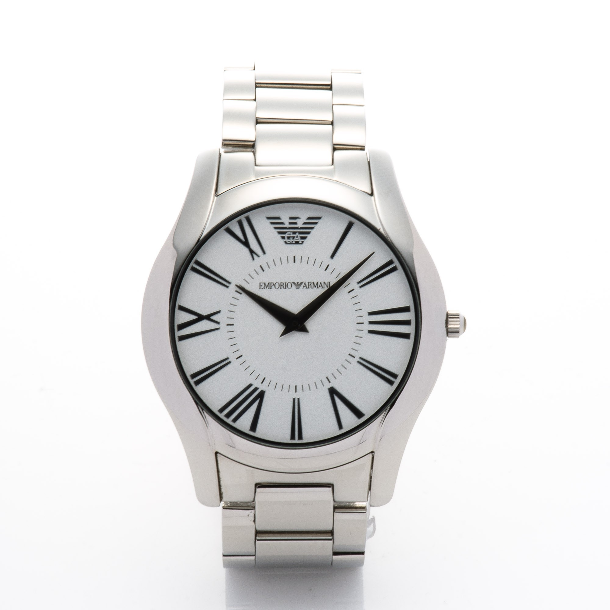 Buy Silver Tone Stainless Steel Armani Watch At Lxr Amp Co
