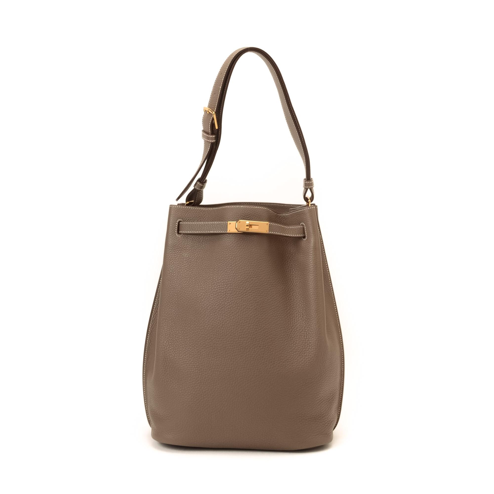 Buy Etoupe Calf Hermes Shoulder Bag At Lxr Amp Co