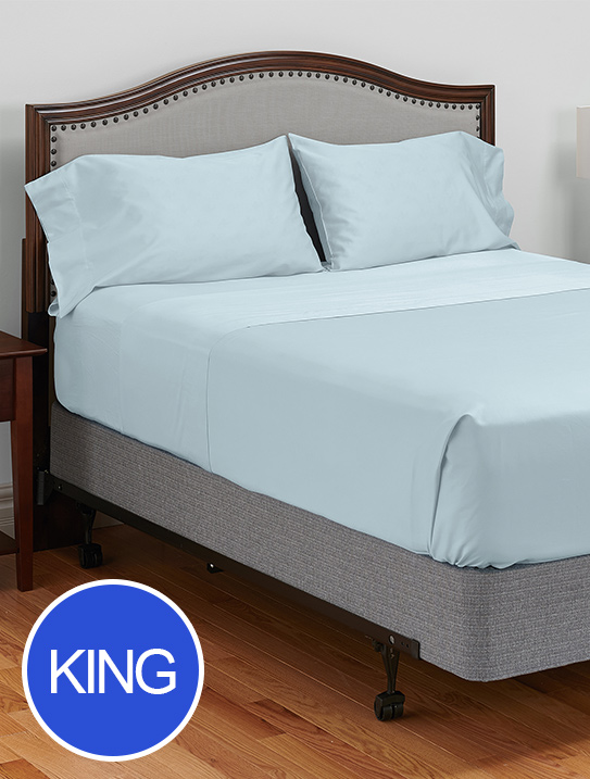 king my pillow c giza dream light blue bed sheets