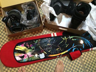 スノーボードビンディング取付け1