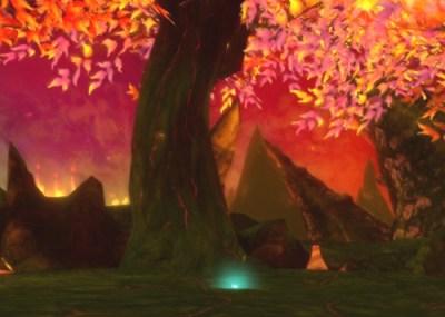 赤熱の荒野 巨竜樹の枝 場所1